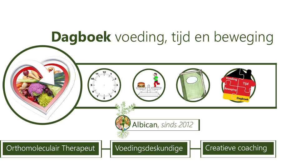 Dagboek, voeding, tijd management en beweging